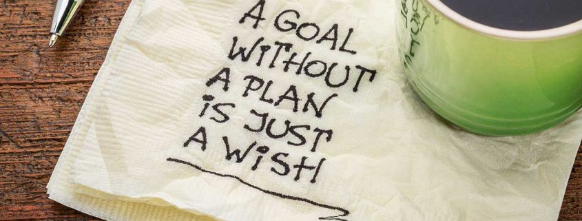 plan quote on napkin