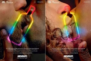 Absolut Kiss Campaign Image